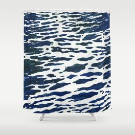 Night Ocean Wake Juul Art Shower Curtain