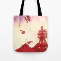 roald dahl Tote Bags featuring Bewitching by Geni