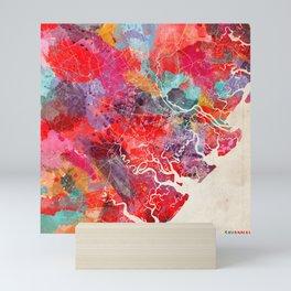 Scottsdale map Arizona painting 2 Mini Art Print