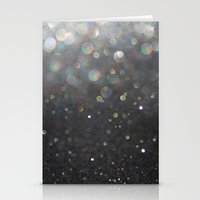tolkien Stationery Cards featuring There Can Be No Light (Ombré Glitter Abstract) by soaring anchor designs