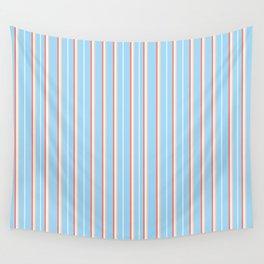 Blue Stripe Pattern Wall Tapestry
