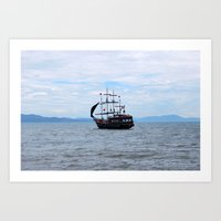 pirate Art Prints featuring Pirate by Caio Trindade