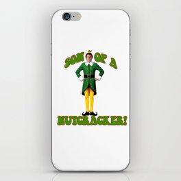 SON OF A NUTCRACKER! Buddy The Elf Christmas Movie iPhone Skin