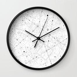 Space Z (white) Wall Clock