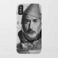 robert downey jr iPhone & iPod Cases featuring Robert Downey Jr by Pazu Cheng