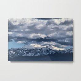 Snowcapped Sierras Metal Print