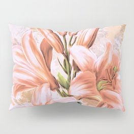 The Pink Lilies (Color) Pillow Sham