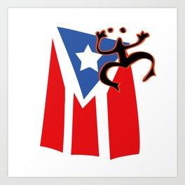Mi bandera, Puerto Rico Art Print