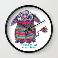 donkey Wall Clocks featuring Donkey by Ruth Wels