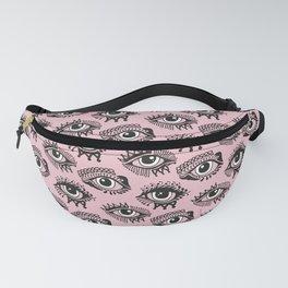 Mehedi Evil Eye Pink Pattern Fanny Pack