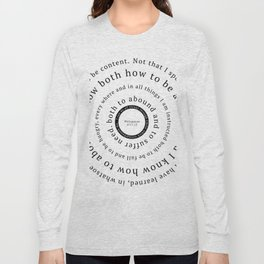 Philippians 4: I can do all things through Christ Long Sleeve T-shirt