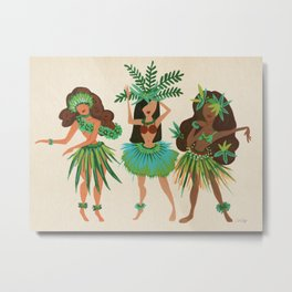 Luau Girls Metal Print