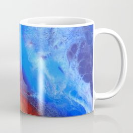 Abstract red and blue paining in fluid art style Coffee Mug