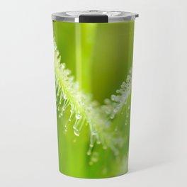 Green leaves of sundews Travel Mug