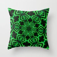 rave Throw Pillows featuring Rave Explosive by Julie Maxwell