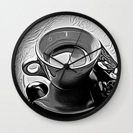 Coffee 2 by David Brier Wall Clock