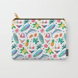 Dotty Summer Beach Pattern Carry-All Pouch