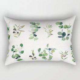 Eucalyptus and Olive Pattern 2  Rectangular Pillow