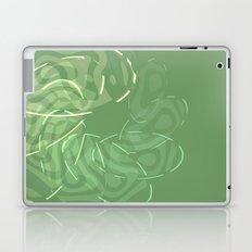 Green Spiral abstract Laptop & iPad Skin