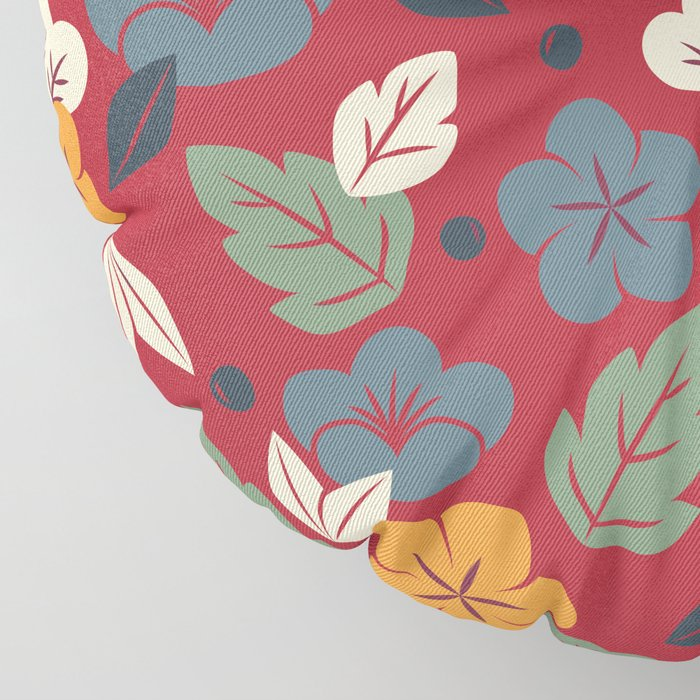 Retro autumn floral pattern Floor Pillow