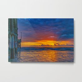 Sunset Behind the Clouds Metal Print
