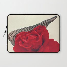 She's a Lady - Surreal Rose Portrait with Sexy Legs Laptop Sleeve