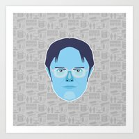 dwight schrute Art Prints featuring Dwight Schrute - The Office by Kuki