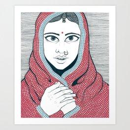 Sari Art Print