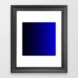 Rich Vibrant Indigo Blue Gradient Framed Art Print