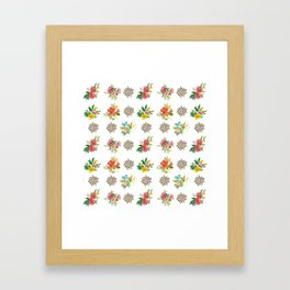 Pretty Floral Boutiques of Flowers Framed Art Print