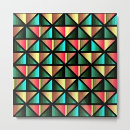 Emerald triangles Metal Print