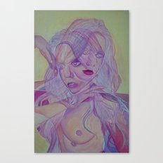 Superimposed Self Study Canvas Print