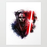 darth Art Prints featuring Darth Nihilus by Vincent Vernacatola