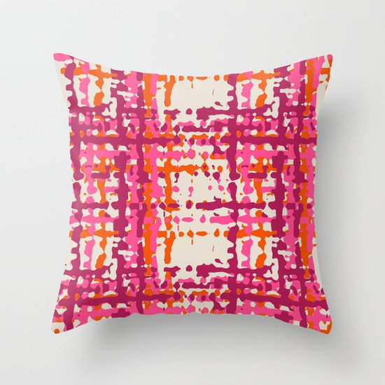 hot weave Throw Pillow