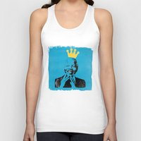 mandela Tank Tops featuring King Mandela by César Ovalle