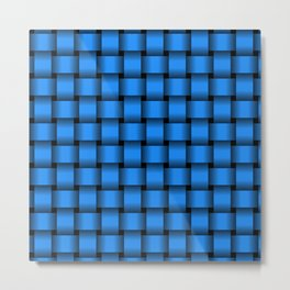 Small Dodger Blue Weave Metal Print