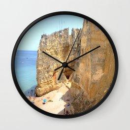 Beach and Cliffs of Lagos Portugal Wall Clock