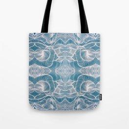 Ocean Lines Multiplied Tote Bag