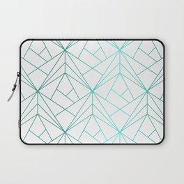 Geometric Turquoise Pattern Laptop Sleeve
