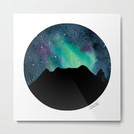 Reds Peak Aurora Metal Print