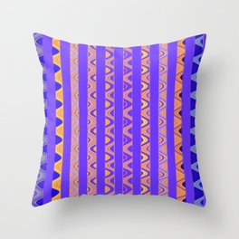 Contemporary African Style Abstract Stripes Throw Pillow