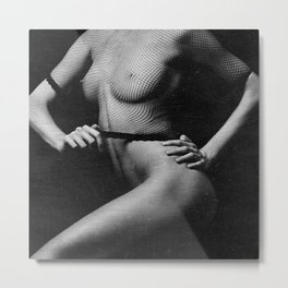 Nude Woman Body image finish with old scratches Metal Print