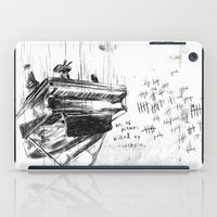 physics iPad Cases featuring Piano Death by Liam Brazier