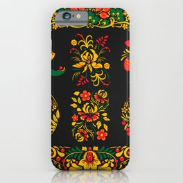 Native russian khokhloma iPhone Case