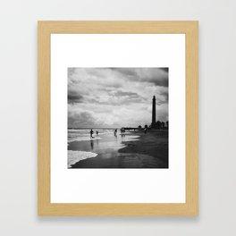 Lighthouse in Maspalomas, Gran Canaria Framed Art Print