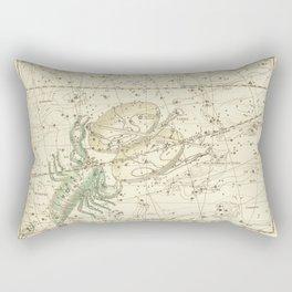 Vintage Map Print - 1822 - Alexander Jamieson - Scorpio and Libra Rectangular Pillow