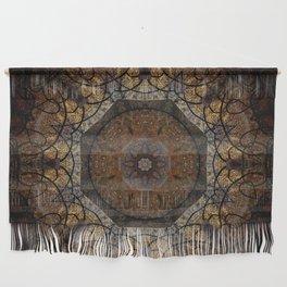 Rich Brown and Gold Textured Mandala Art Wall Hanging