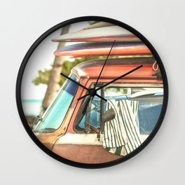 Surf Van Maui Hawaii Wall Clock