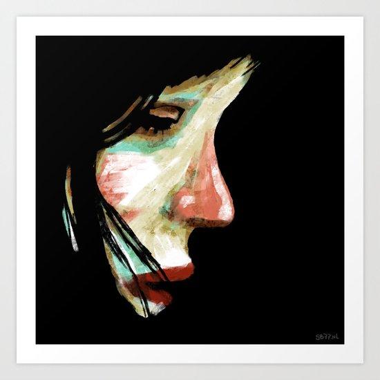 Shy Girl Art Print