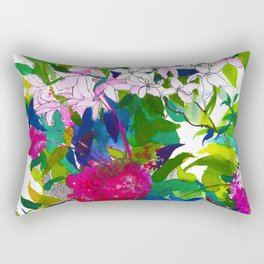 Summer Petals Rectangular Pillow